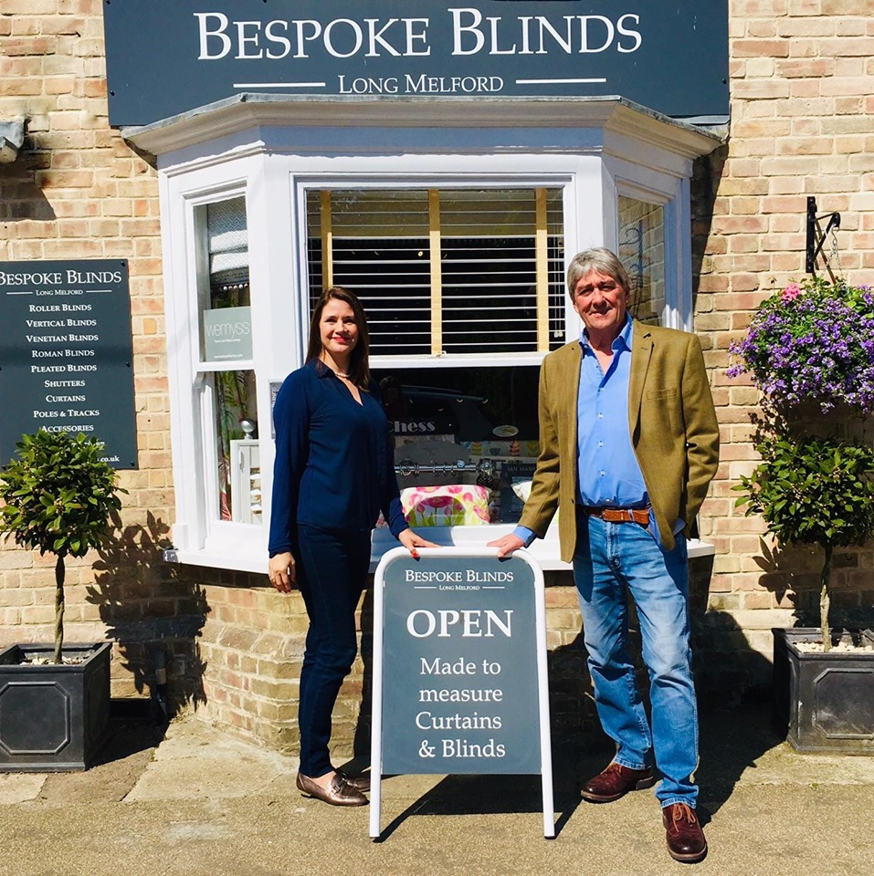 Bespoke Blinds, Long Melford, Suffolk - Helen & Monty