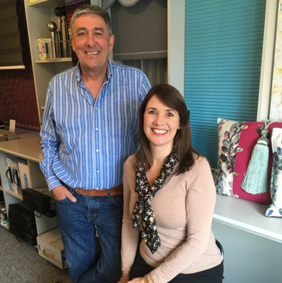 Monty & Helen, Bespoke Blinds, Long Melford, Suffolk